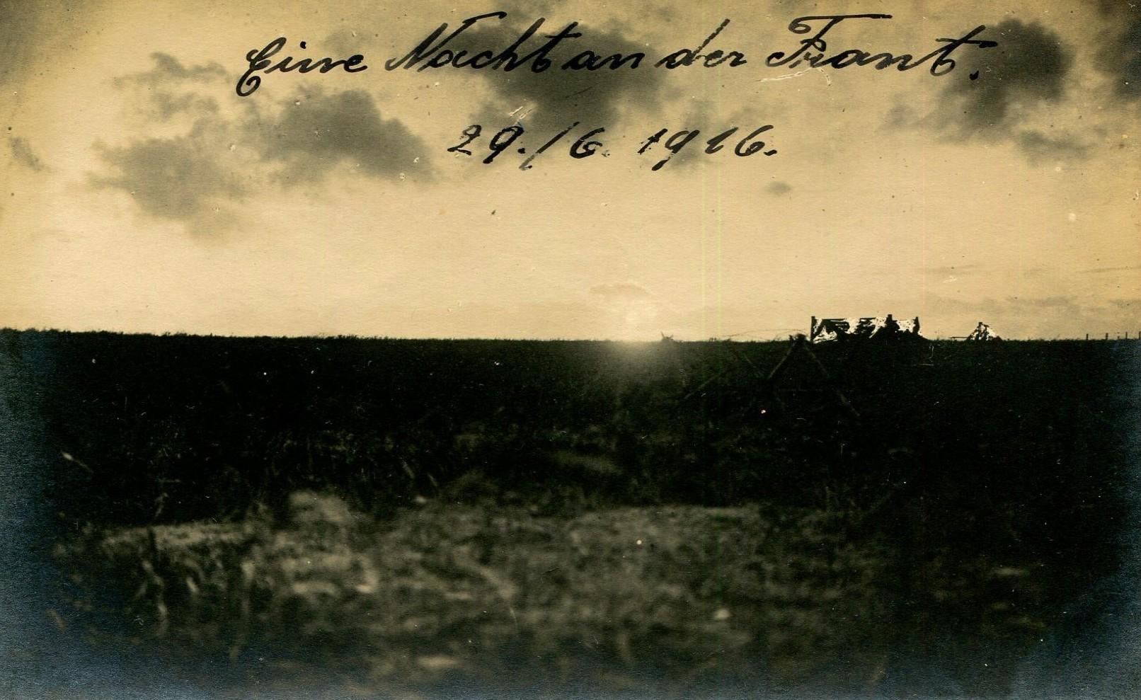 Anonyme, Eine Nacht and der Front, juin 1916