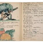 André Mare, Carnet de guerre n°5, s.d., Institut Mémoires de l'Édition Contemporaine, Paris © IMEC