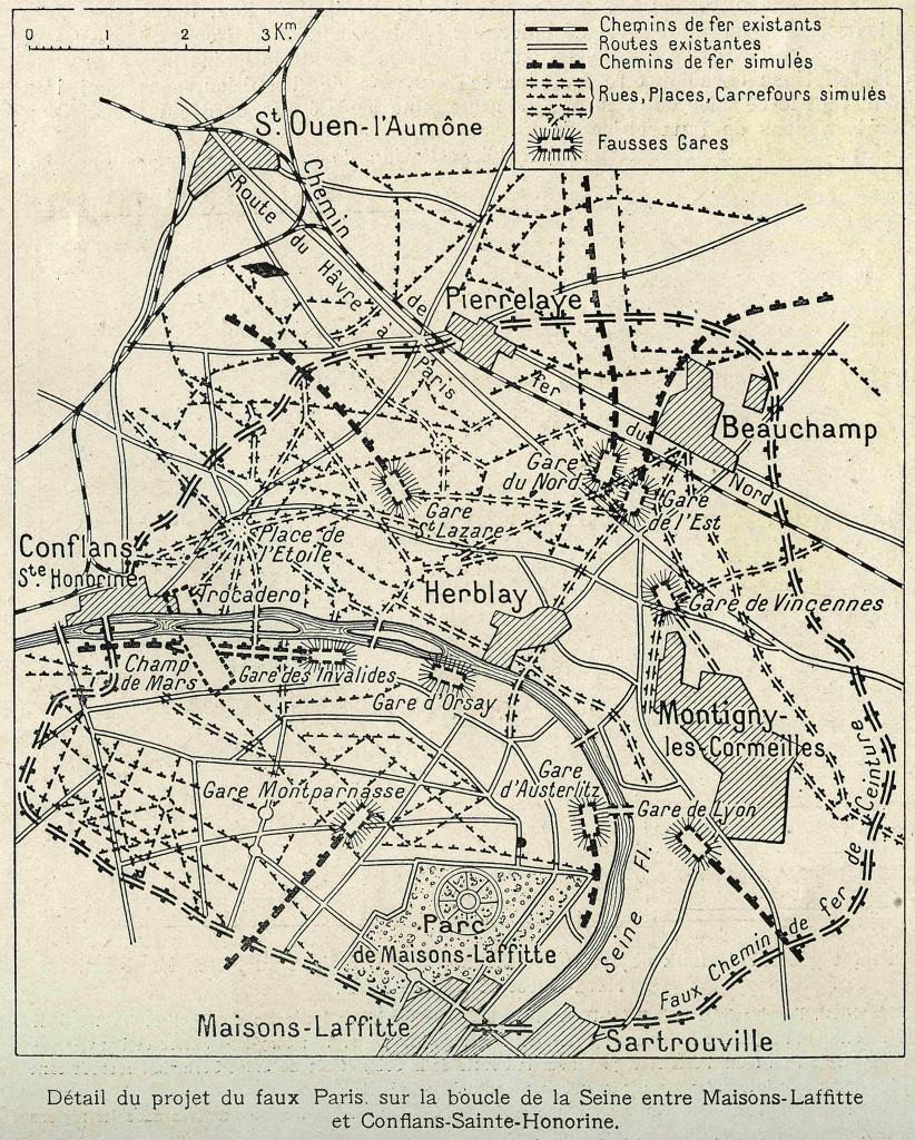 Détail du projet du faux Paris, in L'illustration, 2 octobre 1920