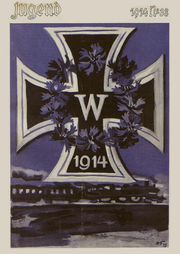Max Feldbauer Couverture pour la revue Jugend, n°38, 19 septembre 1914