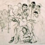 Max Beckmann, Kleine Operation (Petite opération), 1915, eau-forte sur papier, Musée d'Art moderne et contemporain, Strasbourg — © Adagp, Paris 2013– Photographie: Mathieu Bertola, Musées de Strasbourg