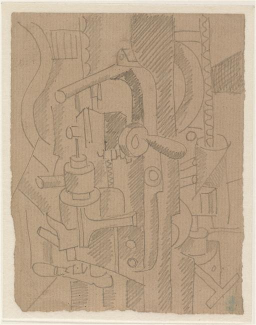 Fernand Léger, Eléments mécaniques, crayon sur papier, 1916, collection Musée National d'Art moderne – Centre Pompidou, Paris