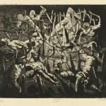 Otto Dix, Totentanz anno 17, eau-forte pour le portfolio Der Krieg, Karl Nierendorf, 1924 © Adagp, Paris 2013