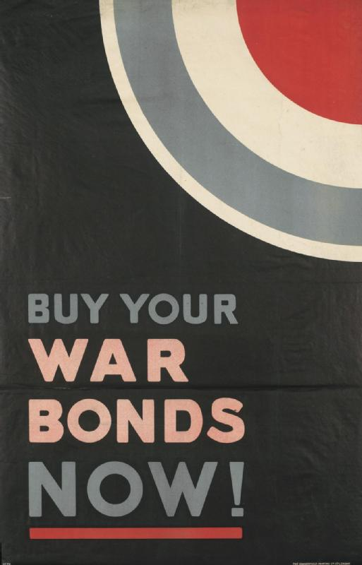 Anonyme, War Bonds, 1918, lithographie en couleurs publiée par le National War Savings Committee, collection Imperial War Museum, Londres