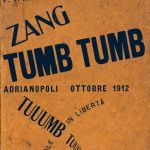 Filippo Tommaso Marinetti, couverture de Zang Tumb Tumb, 1914, éditions Poesia, Milan, 1914, collection Museum of Modern Art, New York